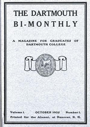 Cover for the October 1905 issue