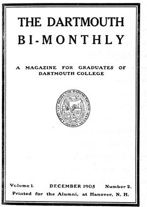Cover for the December 1905 issue