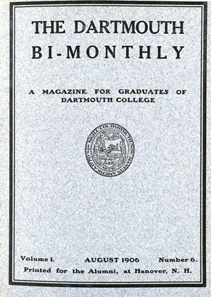 Cover for the August 1906 issue