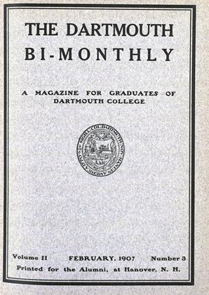 Cover for the February 1907 issue