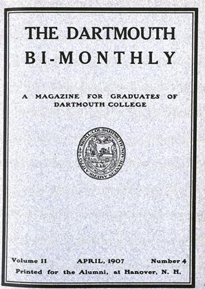 Cover for the April 1907 issue