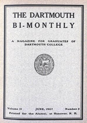 Cover for the June 1907 issue