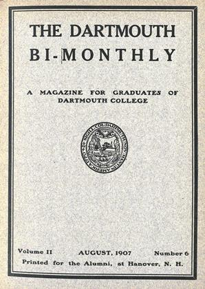Cover for the August 1907 issue