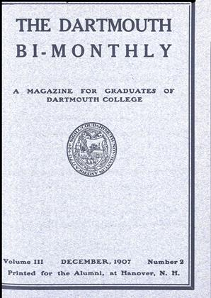 Cover for the December 1907 issue