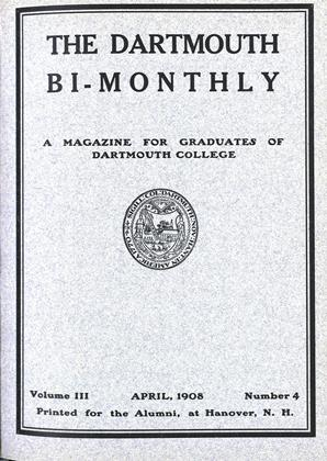 Cover for the April 1908 issue