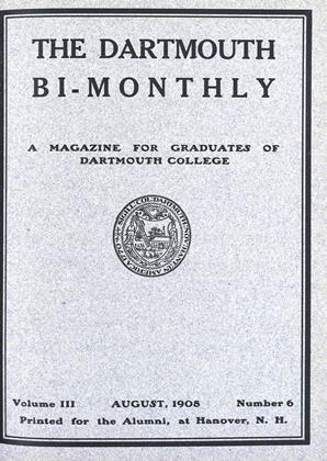 Cover for the August | September 1908 issue