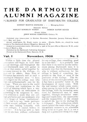 Cover for the November 1908 issue