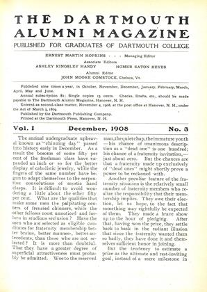 Cover for the December 1908 issue