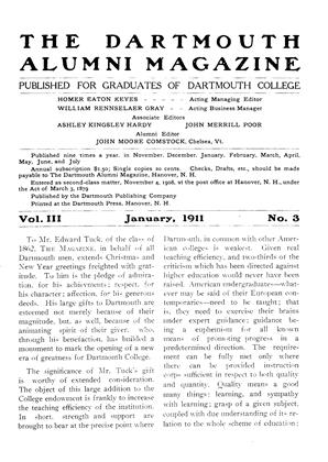 Cover for the January 1911 issue