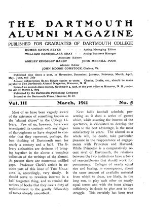 Cover for the March 1911 issue
