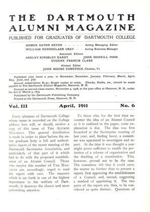 Cover for the April 1911 issue