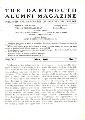 Cover for the May 1911 issue