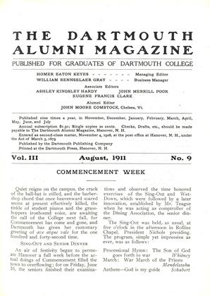 Cover for the August 1911 issue