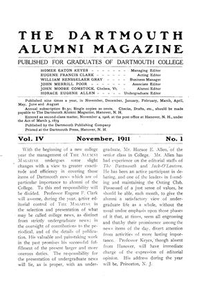 Cover for the November 1911 issue