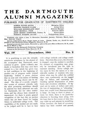 Cover for the December 1911 issue