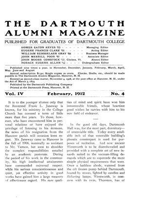 Cover for the February 1912 issue