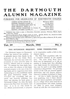 Cover for the March 1912 issue
