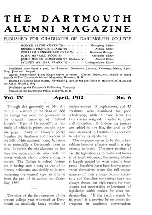 Cover for the April 1912 issue