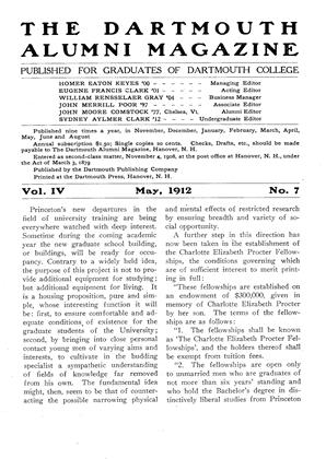 Cover for the May 1912 issue