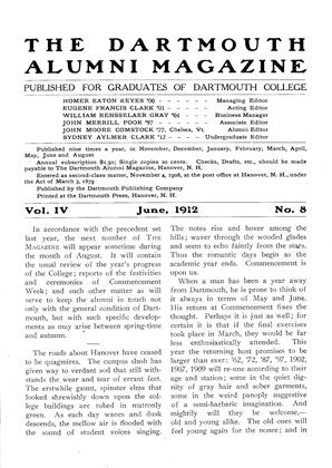Cover for the June 1912 issue