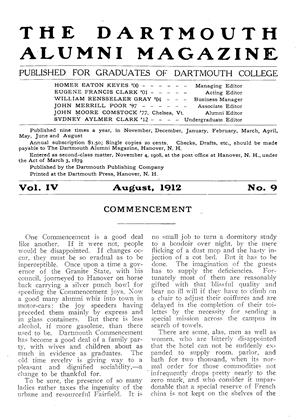 Cover for the August 1912 issue