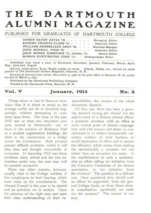 Cover for the January 1913 issue