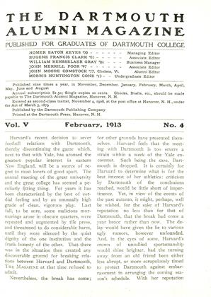 Cover for the February 1913 issue
