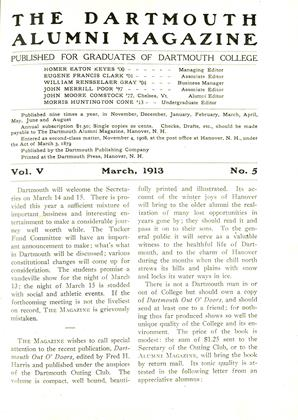 Cover for the March 1913 issue