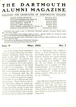 Cover for the May 1913 issue