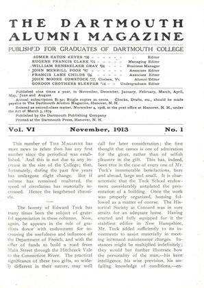 Cover for the November 1913 issue