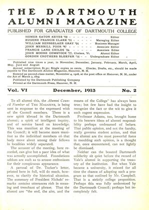 Cover for the December 1913 issue