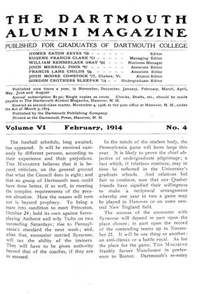 Cover for the February 1914 issue