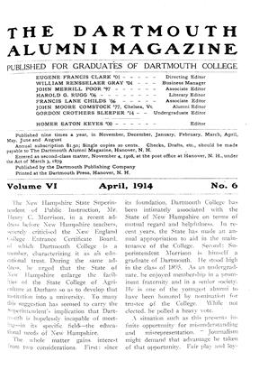 Cover for the April 1914 issue