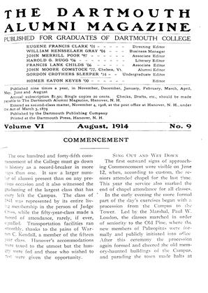 Cover for the August 1914 issue