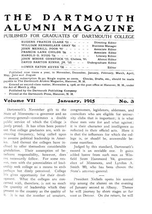 Cover for the January 1915 issue
