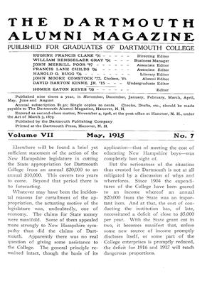 Cover for the May 1915 issue