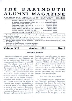 Cover for the August 1915 issue