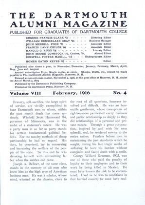 Cover for the February 1916 issue