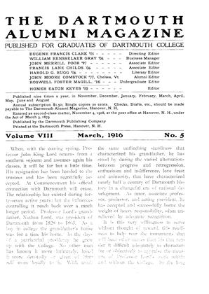 Cover for the March 1916 issue