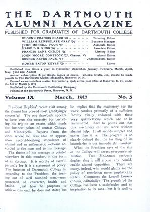 Cover for the March 1917 issue