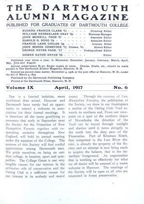 Cover for the April 1917 issue
