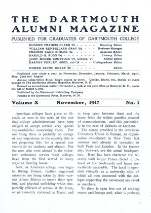 Cover for the November 1917 issue