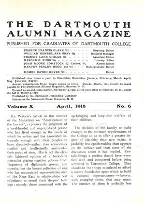 Cover for the April 1918 issue