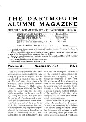 Cover for the November 1918 issue