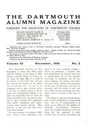 Cover for the December 1918 issue