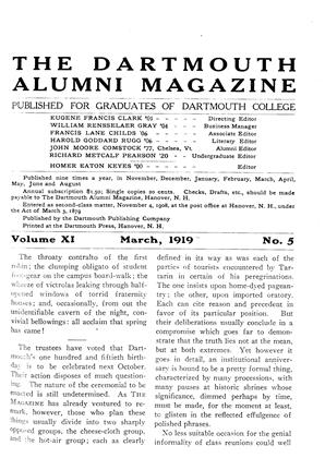 Cover for the March 1919 issue