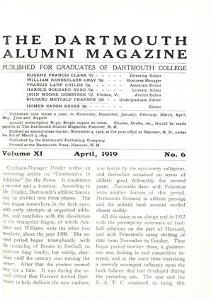 Cover for the April 1919 issue