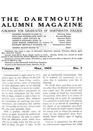 Cover for the May 1919 issue