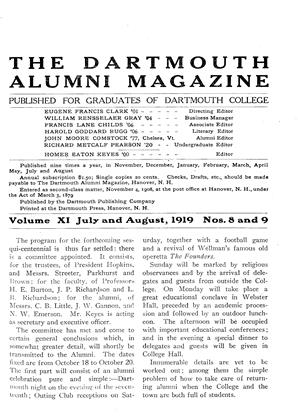 Cover for the July 1919 issue