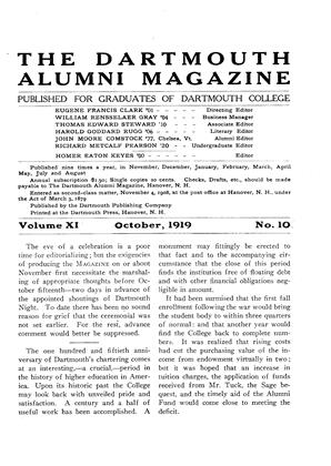 Cover for the October 1919 issue